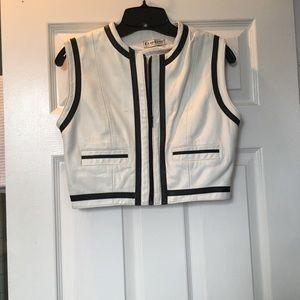 bebe genuine leather vest